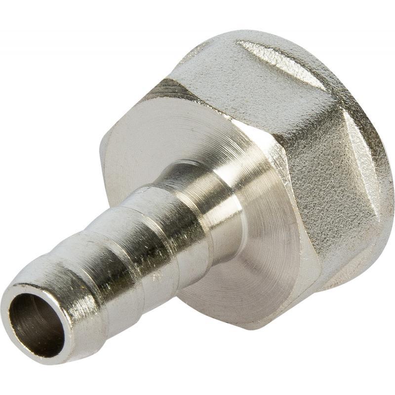 """Штуцер газовый Ростерм 1/2"""" ВРх10 мм для шланга, латунь/сталь"""