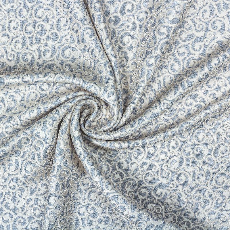 Ткань 1 п/м «Жозефина», жаккард, 280 см, цвет голубой