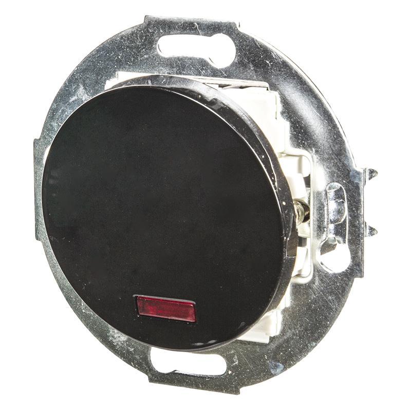Переключатель LK Vintage 1 клавиша на 2 направления с индикатором 250B, черный