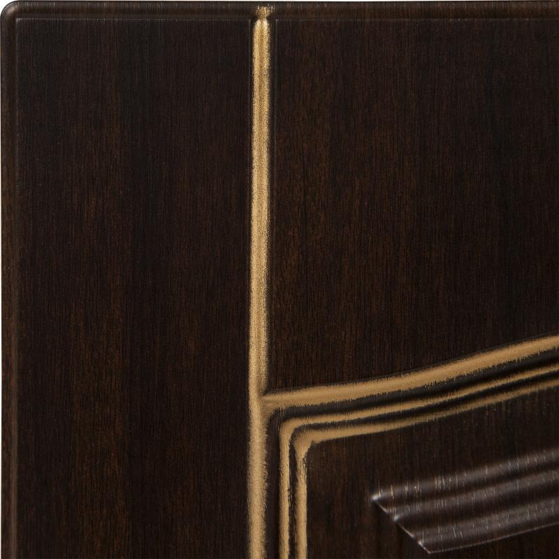 Дверь для кухонного шкафа «Византия», 80х35 см, цвет тёмно-коричневый