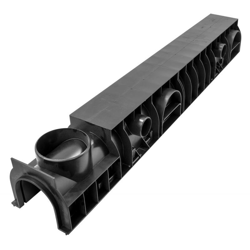 Канал DN 100 129x153x1000 мм пластик
