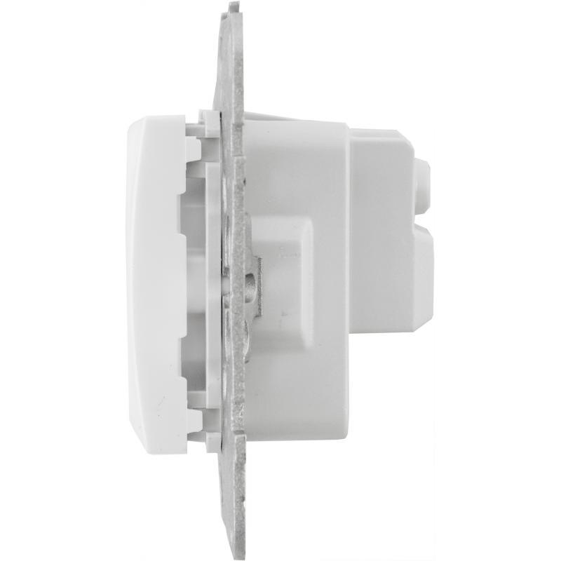 Розетка встраиваемая Schneider Electric Unica с заземлением, цвет белый