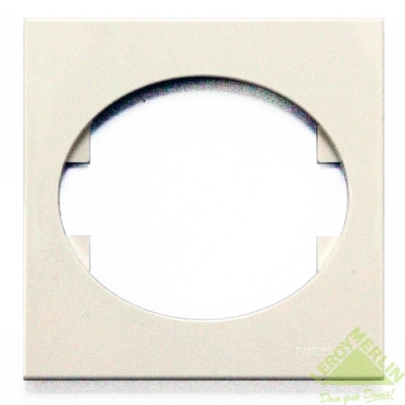Рамка для розеток и выключателей Tacto, 1 пост, цвет белый