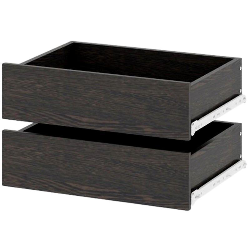 Комплект из двух ящиков для колонки и тумбы цвет венге