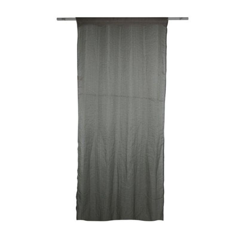 Тюль на ленте «Лодэ» 300х260 см цвет серый