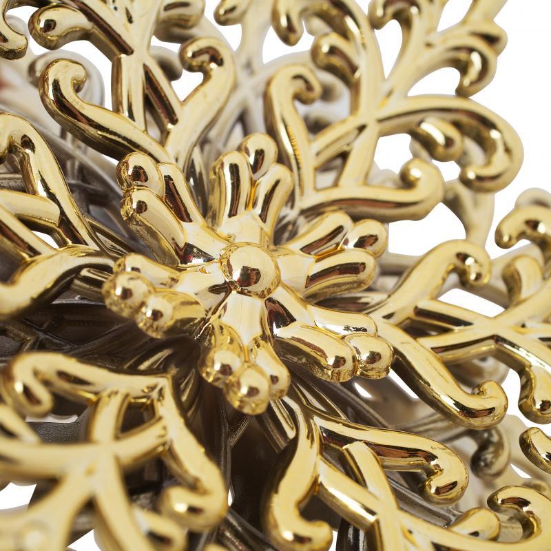 Украшение ёлочное «Снежинка Кристалл», 11.5 см, гальванизированное