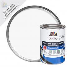 Сулы-дисперсиялық акрилатты эмаль: Терезелерге арналған су қосып сұйылтатын эмаль DUFA жалтыр ақ түсті 0.75л