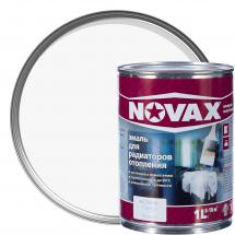 Функционалды қоспалы ертікіші бар алкидті шайыр негізіндегі эмаль: Радиаторларға арналған эмаль Novax, ақ түсті, 1 л