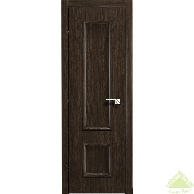 Дверь межкомнатная глухая 5001 КД 21-7 с фурнитурой, черный дуб