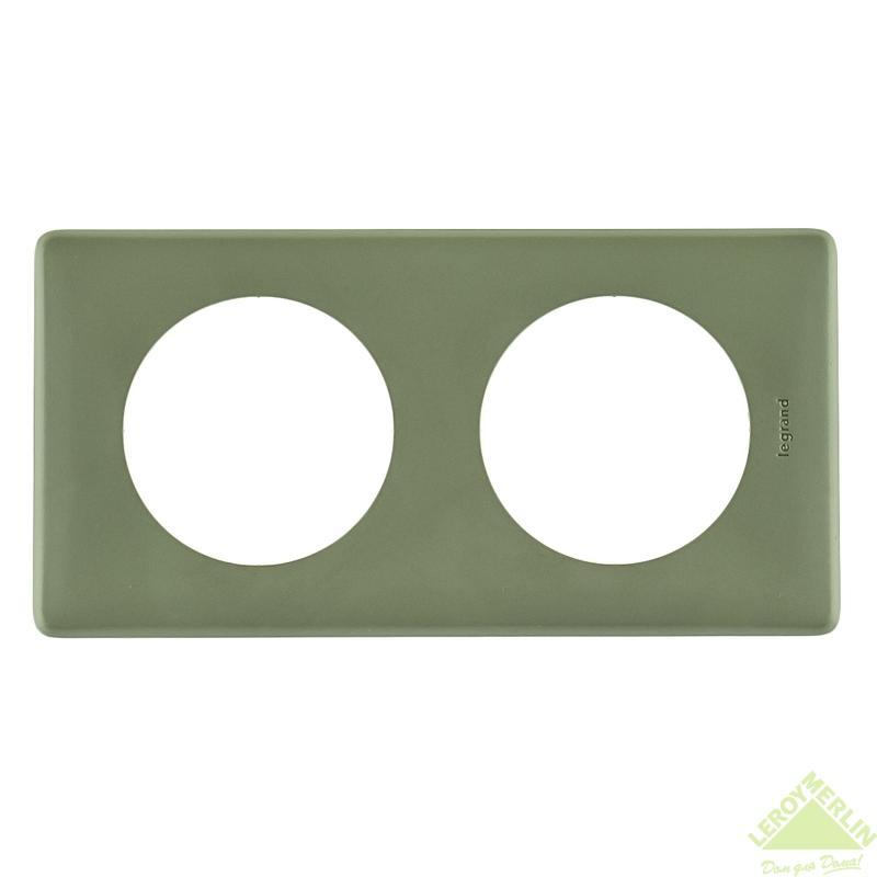 Рамка для розеток и выключателей Celiane, 2 поста, цвет сафари