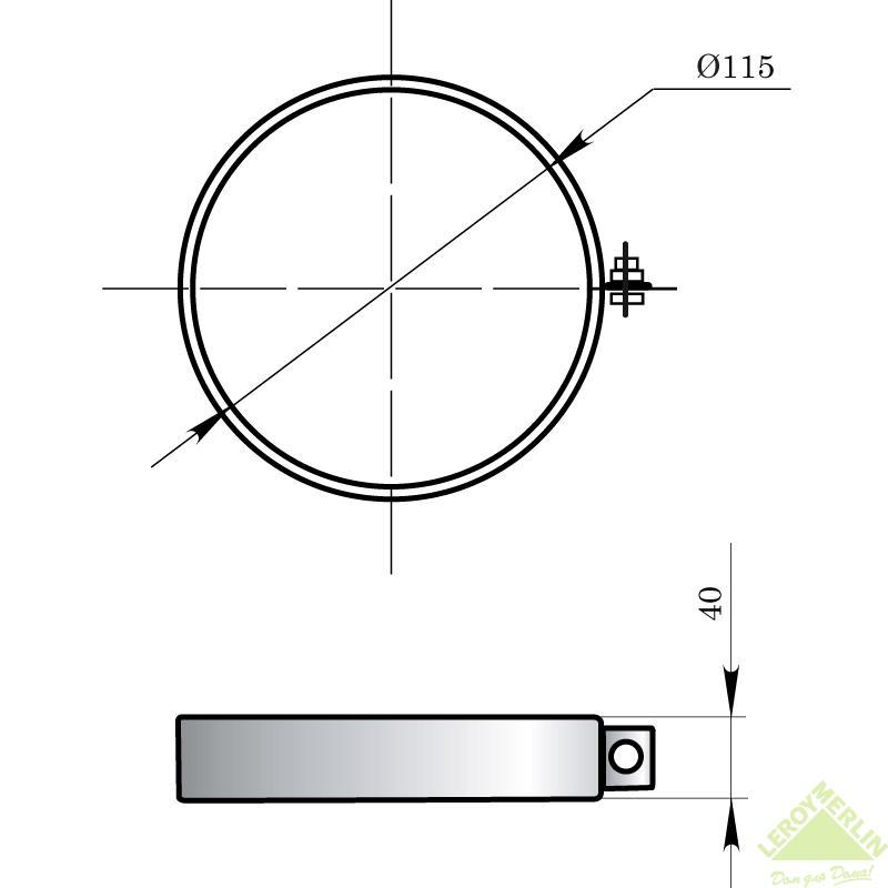 Хомут стягивающий Мета, 115 мм
