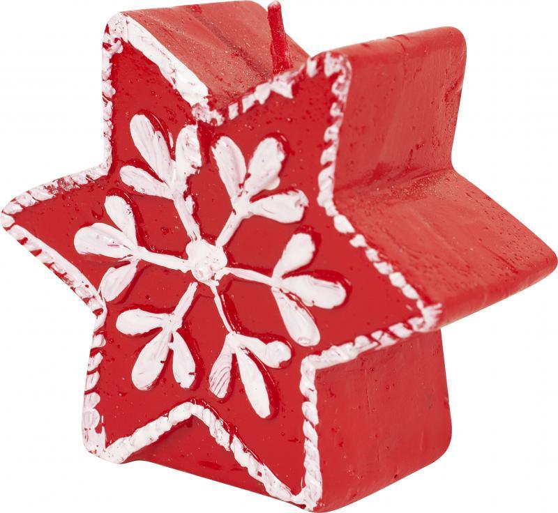 Свеча новогодняя «Красная звёздочка», 6 см, парафин