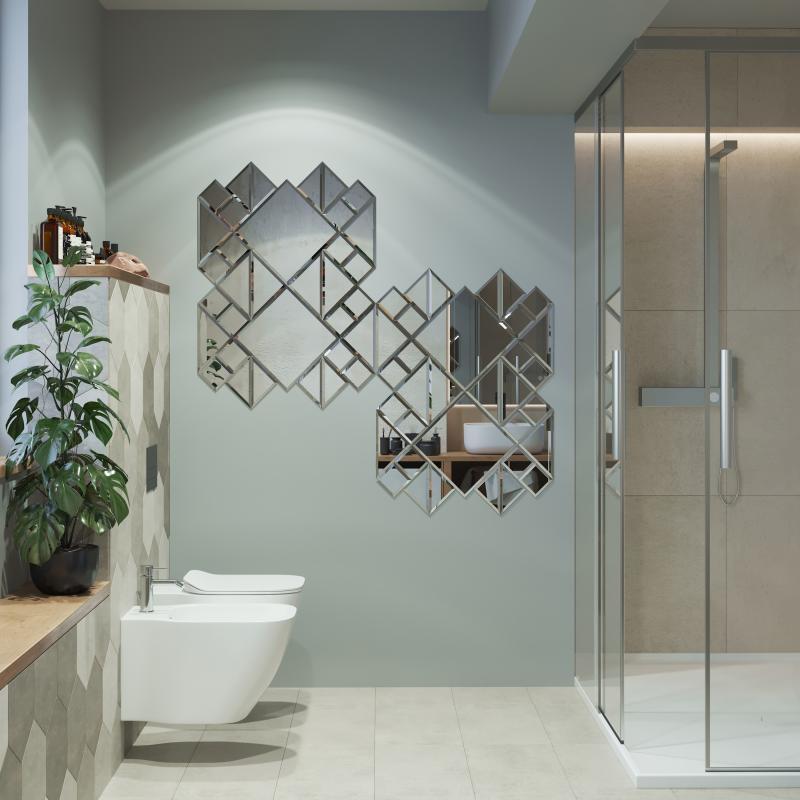 Плитка зеркальная Sensea квадратная 30x30 см 1 шт.