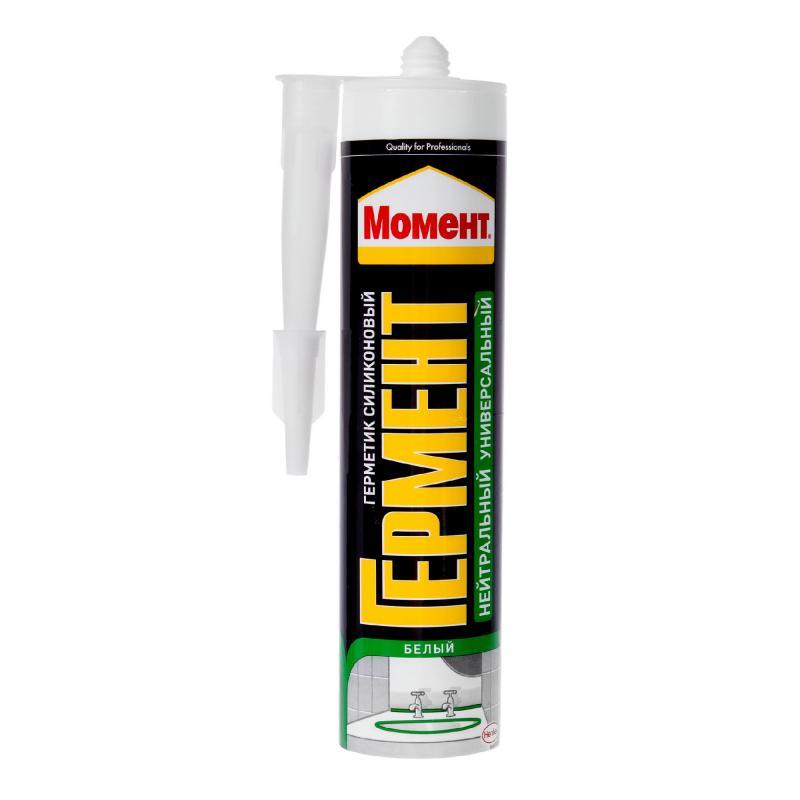 Герметик Момент Гермент силиконовый универсальный, цвет белый, 280 мл