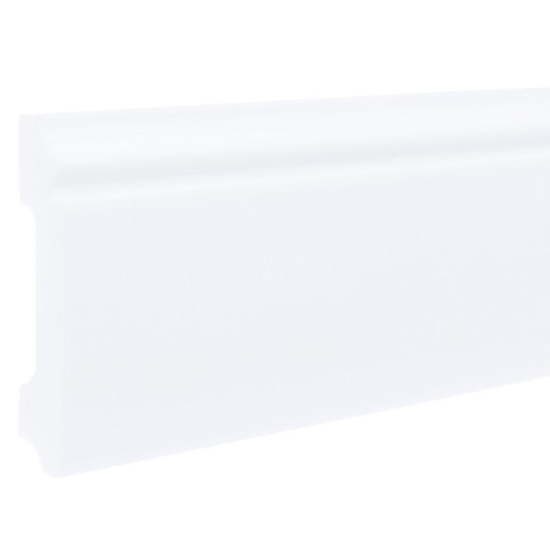 Плинтус напольный FL1 ударопрочный, 80x12 мм, длина 2 м