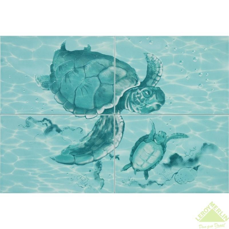 Панно Лагуна Черепахи, 498х728 см