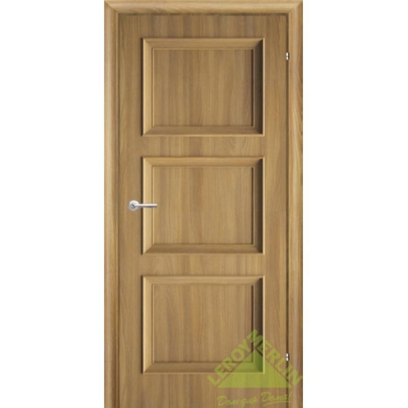 Дверь межкомнатная глухая, 600 мм, акация, замок 2014