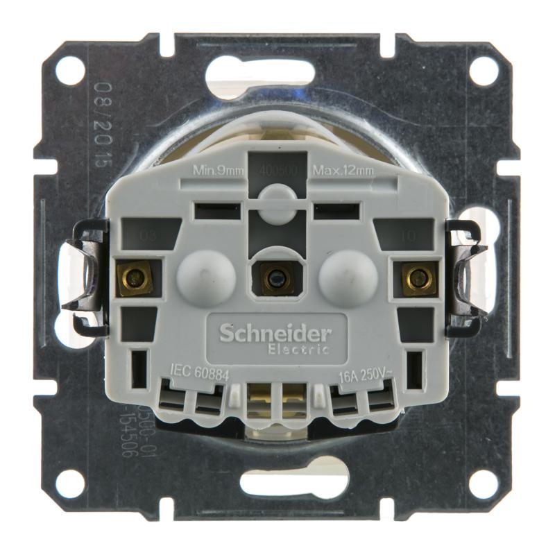 Розетка Schneider Electric Sedna с заземлением, крышка, цвет бежевый, IP44