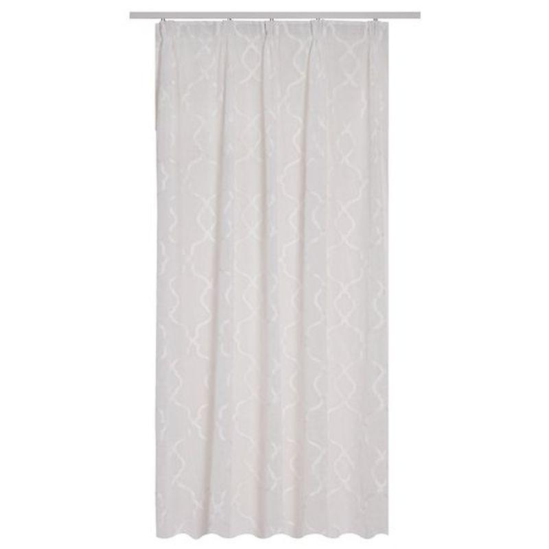 Тюль на ленте «Казина» 300х260 см цвет белый