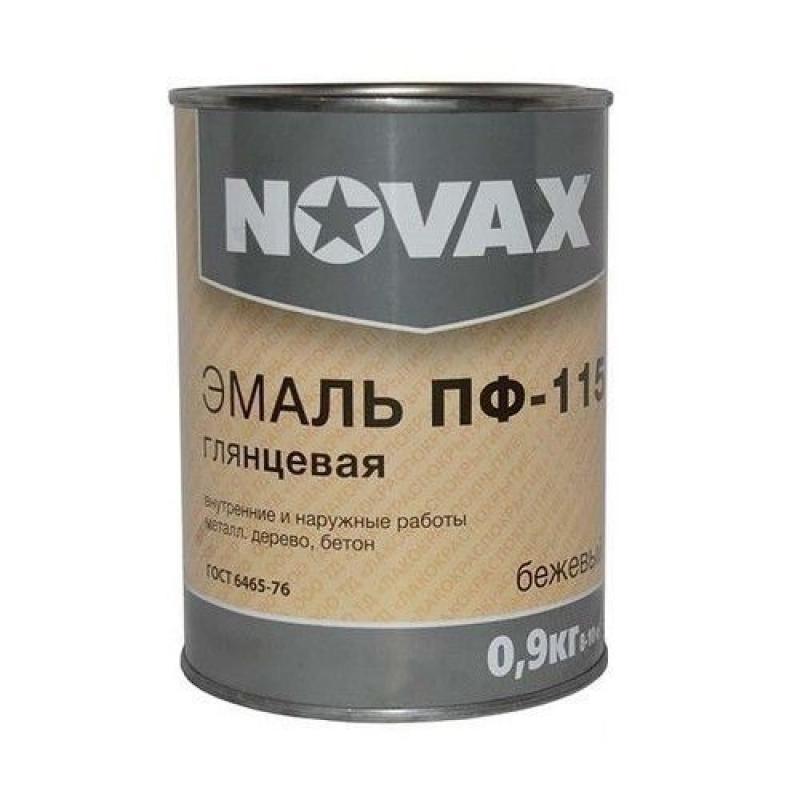 Эмаль Novax ПФ-115 0.9 кг цвет бежевый