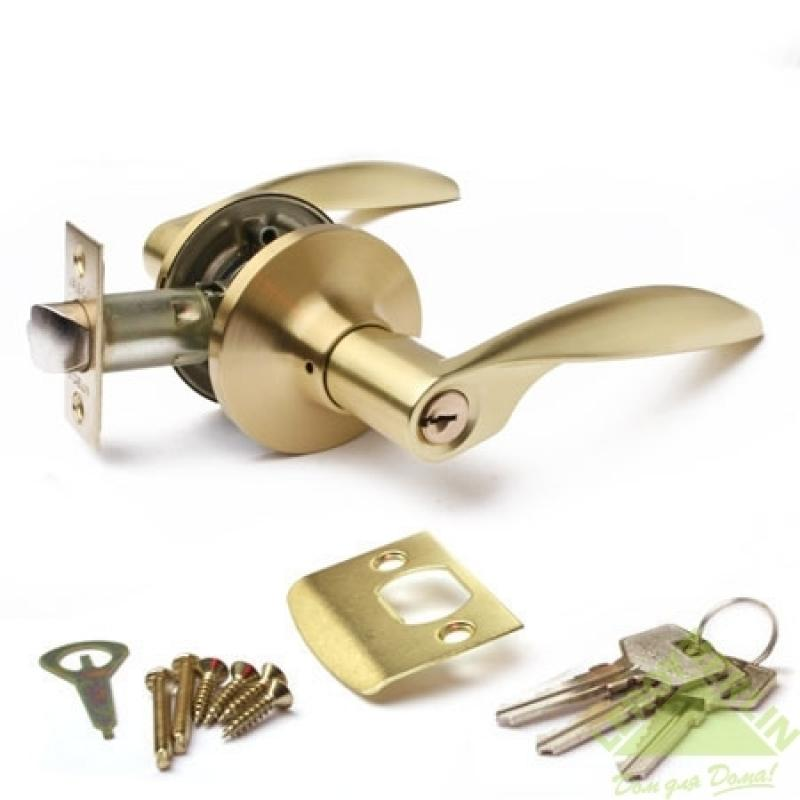 Ручка-защёлка межкомнатная Apecs 8020-01-GM (золото матовое)