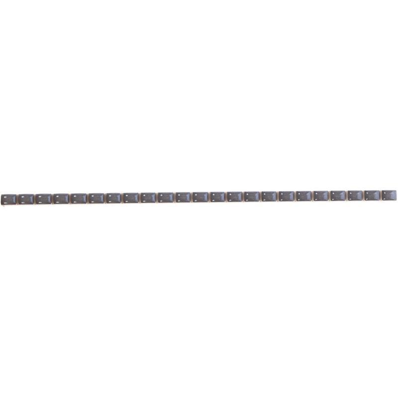 Бордюр «Капсула люстртрованный» 7х250 мм цвет черный