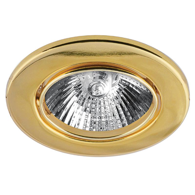 Спот встраиваемый поворотный, цоколь GU5.3, 35 Вт, цвет золото