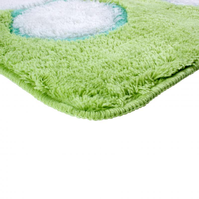 Коврик для ванной комнаты Радость, 60х90 см, полиакрил, цвет зелёный