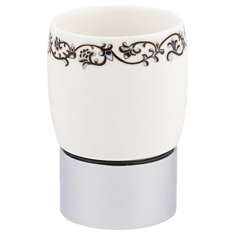 Стакан для зубных щёток настольный Fixen «Bogema» керамика цвет белый