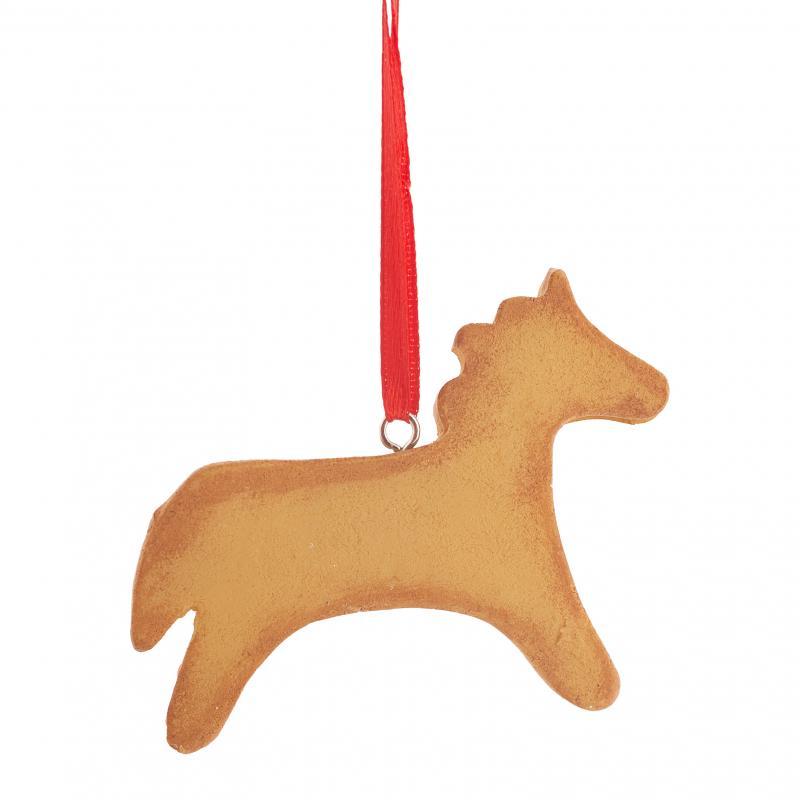 Украшение ёлочное «Конь-пряничек», 7 см