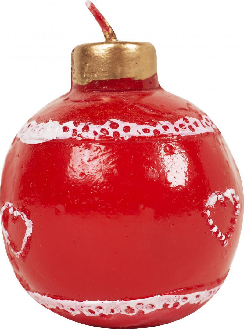Свеча новогодняя «Красный шар», 6.5 см, парафин