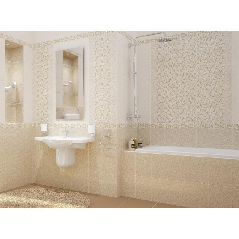 Бордюр «Mozaika» 6x20 см цвет бежевый