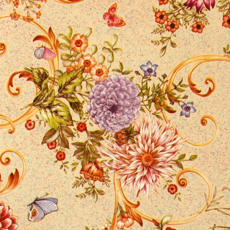 Скатерть «Георгины» 160х135 см цвет персиковый