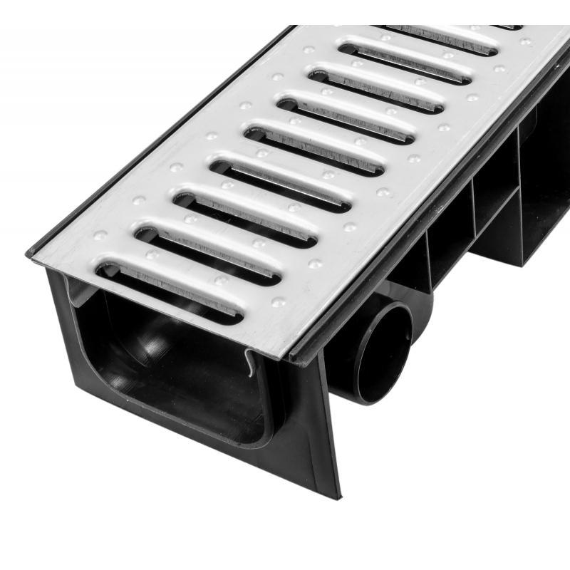 Канал 99x153x1000 мм с оцинкованной решёткой