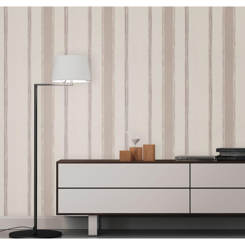 Обои флизелиновые 1.06х10 м полосы цвет кофейный ER 5231-38
