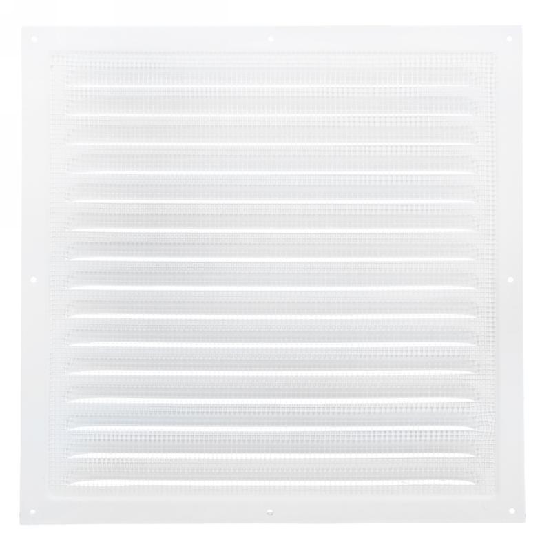 Решетка вентиляционная с сеткой Вентс МВМ 300 с, 300х300 мм, цвет белый