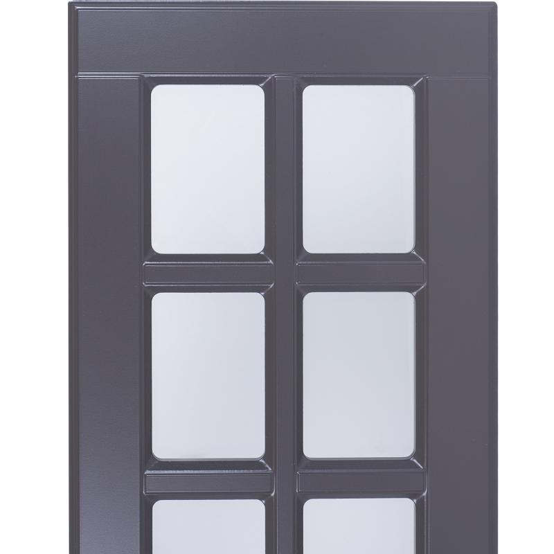 Витрина для шкафа Delinia «Леда серая» 40x92 см, МДФ, цвет серый