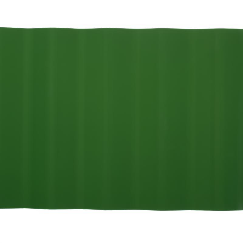 Лента бордюрная декоративная «Гофра» высота 20 см цвет  хаки