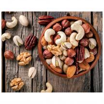Картина без рамы «Тарелка с орехами» 40х50 см