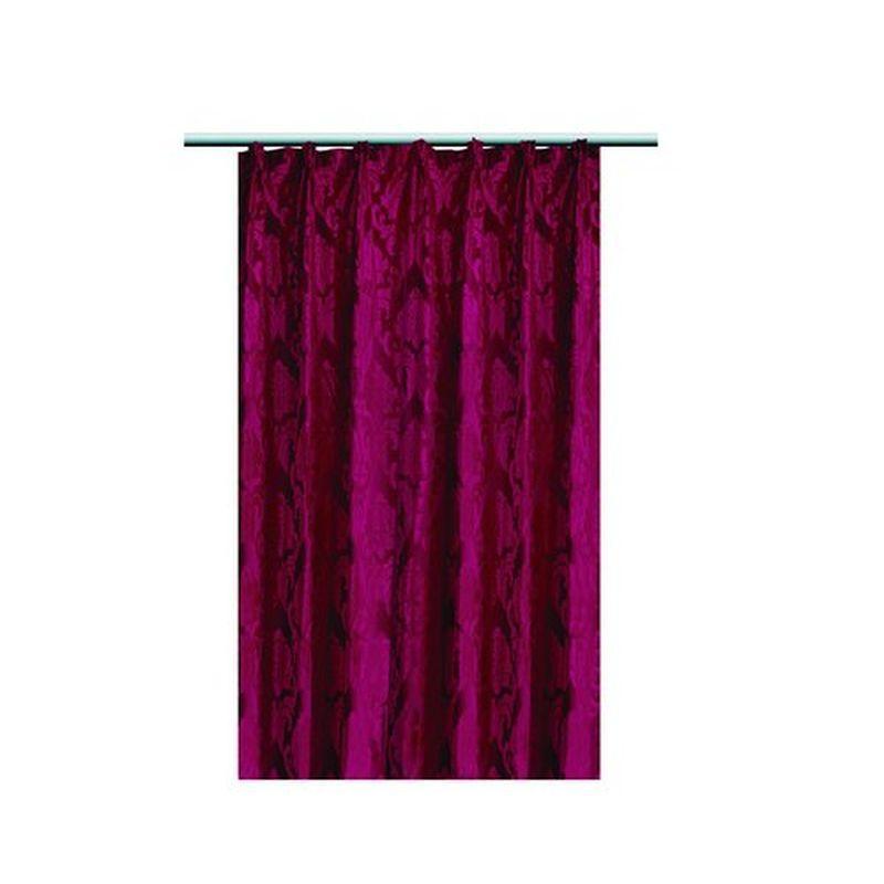 Штора на ленте «Боса» 200х260 см цвет красный