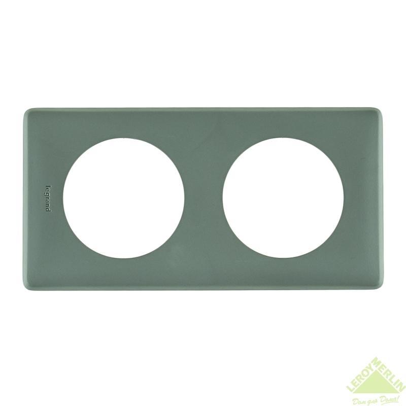 Рамка для розеток и выключателей Celiane, 2 поста, цвет грей