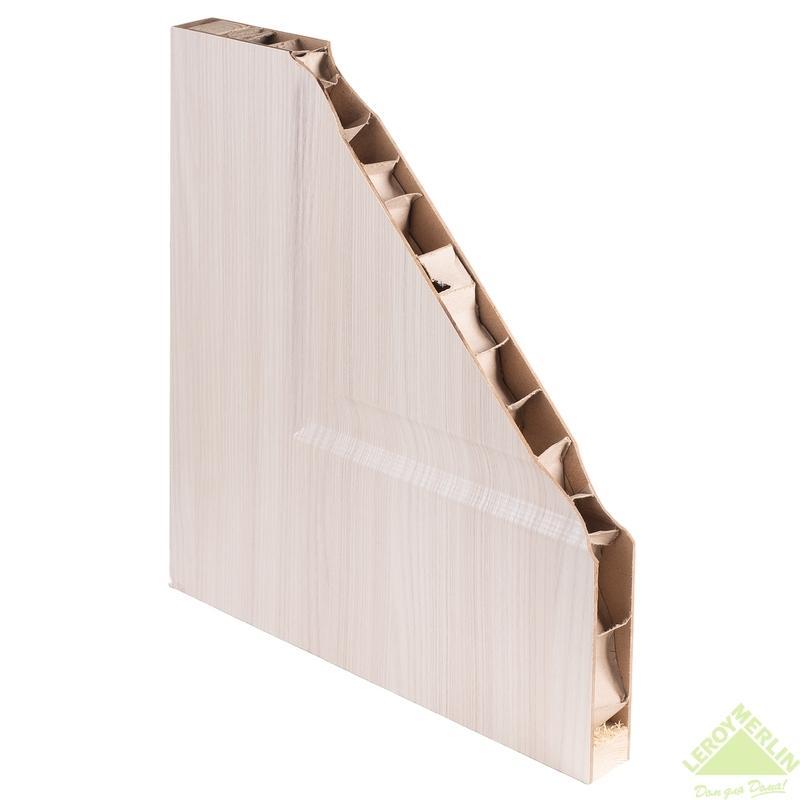 Дверное полотно остекленное Афина Сат вьюн 2000x90 мм, экошпон, белый дуб мелинга