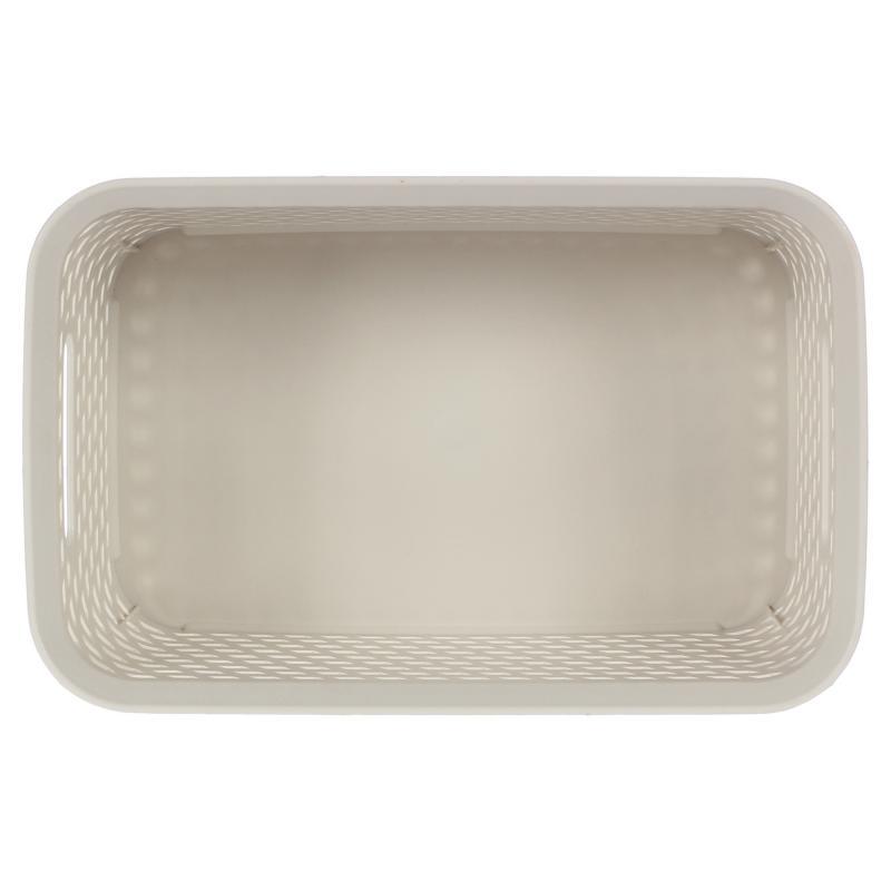 Корзина для хранения «Ротанг», 4 л, 28х18.5х12.6 см, цвет белый