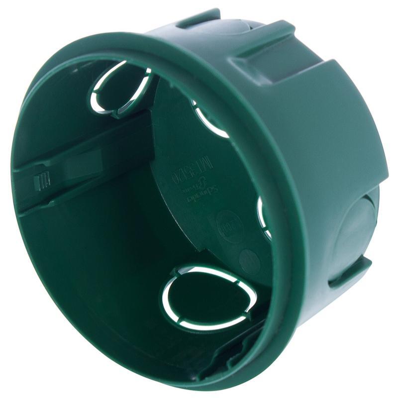 Коробка распределительная Schneider Electric 70x70x40 мм цвет зёленый