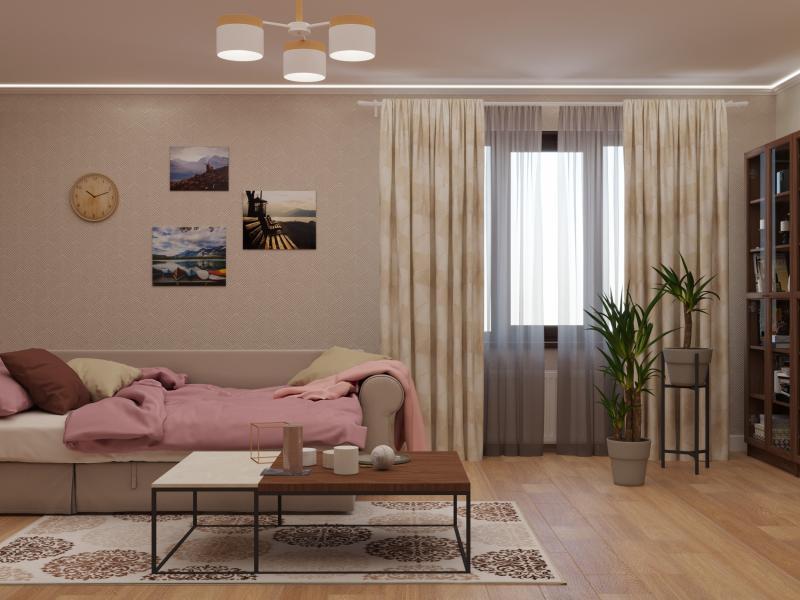 Подушка декоративная «Радуга» 40х40 см цвет кремовый