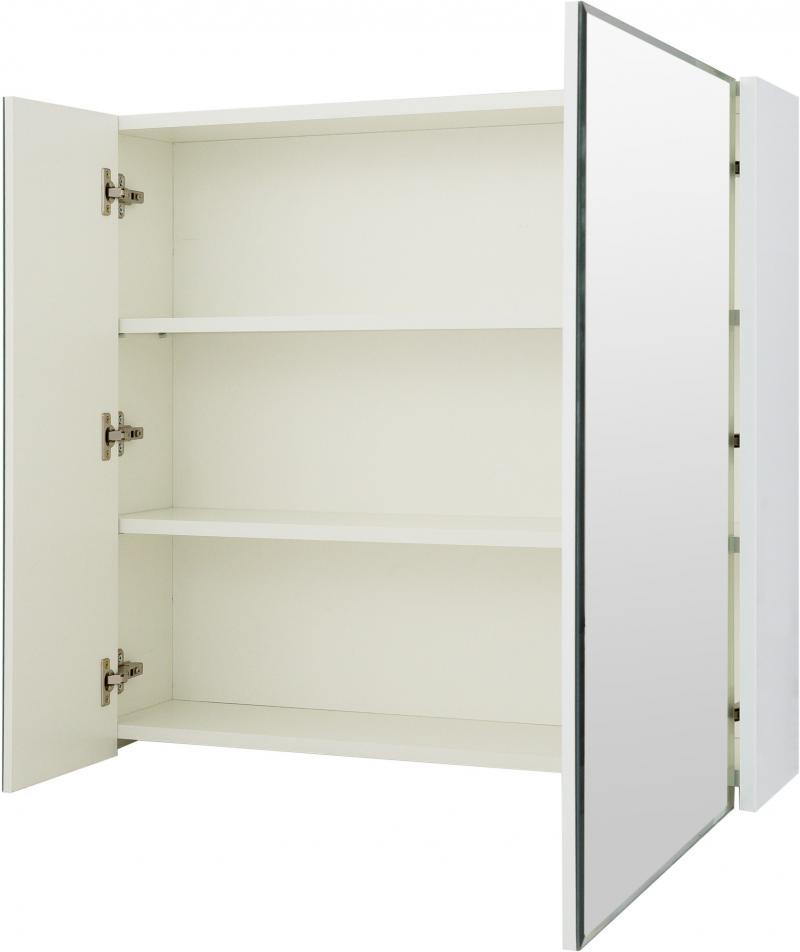 Шкаф зеркальный «Экко», 80 см, цвет белый глянец