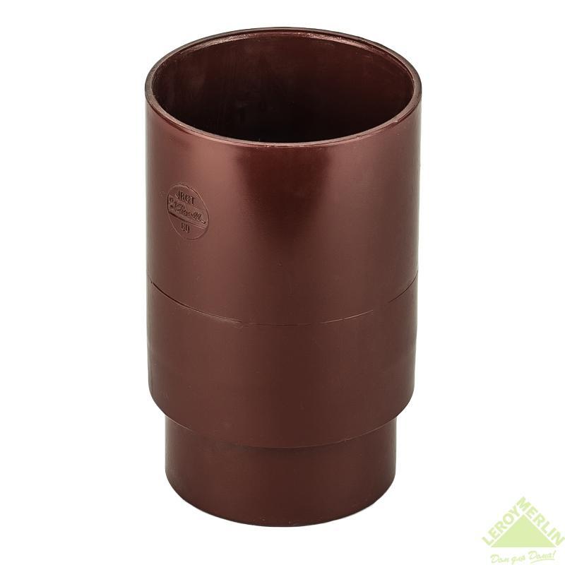 Муфта для водосточной трубы 80 мм цвет красный