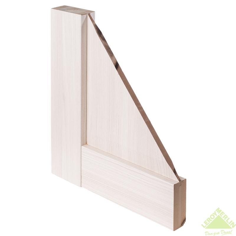 Дверное полотно остекленное Рома 200x70 см, экошпон, белый дуб мелинга