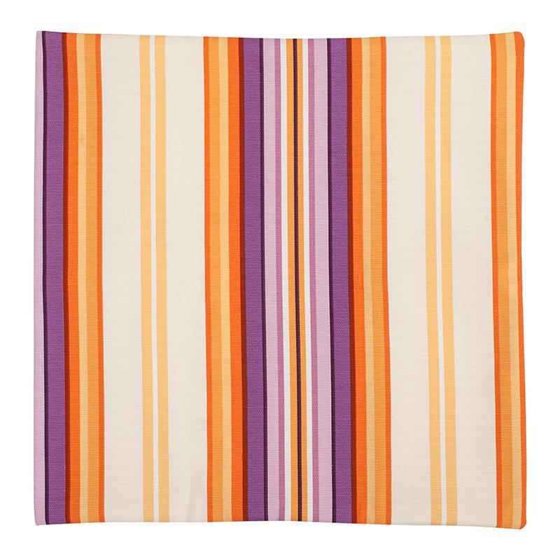 Наволочка Робина, полоса, декоративная, 40х40 см, цвет оранжевый