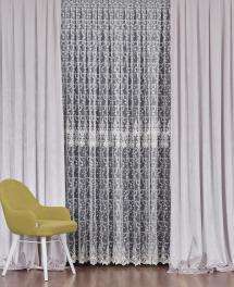 Тюль с вышивкой на сетке «Грация» 1 п/м 290 см цвет кремовый